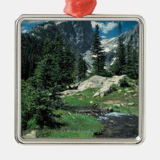 Hallett Peak , Rocky Mountain National Park , Metal Ornament