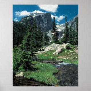 Hallett Peak , Rocky Mountain National Park , Poster at Zazzle