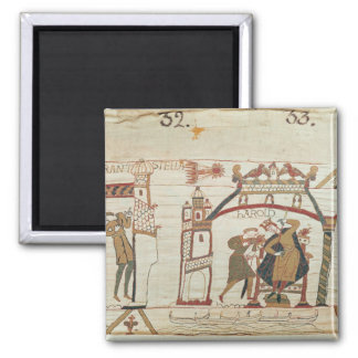 Halley's Comet and Harold Receiving Bad News 2 Inch Square Magnet