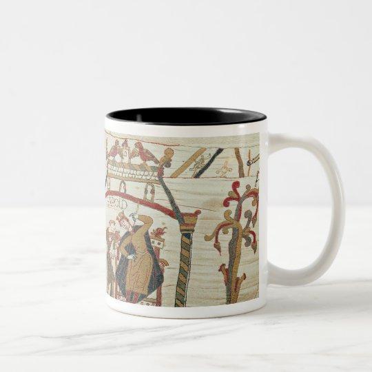 Halley's Comet and Harold Receiving Bad News Two-Tone Coffee Mug