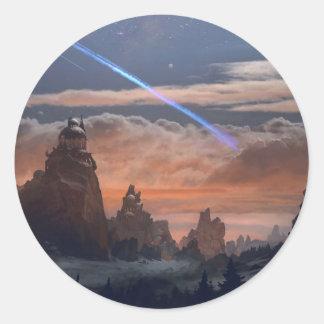 Halley's Comet Classic Round Sticker