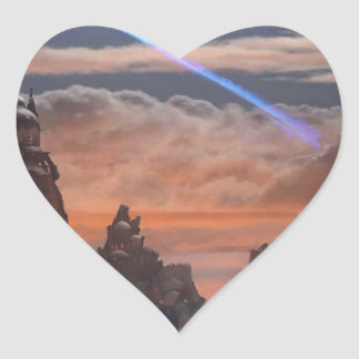 Halley's Comet Heart Sticker