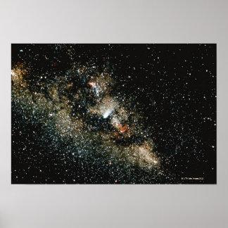 Halleys Comet  in the Milky Way Poster