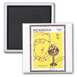 Halleys Comet Inner Planets 2 Inch Square Magnet