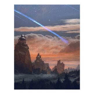 Halley's Comet Letterhead
