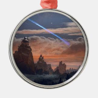 Halley's Comet Metal Ornament