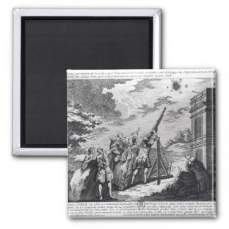 Halley's Comet Observed in 1759 by Cassini III 2 Inch Square Magnet