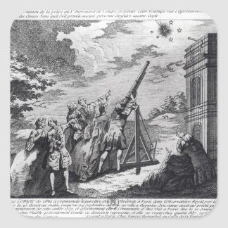 Halley's Comet Observed in 1759 by Cassini III Square Sticker