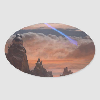 Halley's Comet Oval Sticker