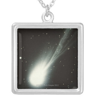 Halleys Comet Silver Plated Necklace