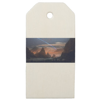 Halley's Comet Wooden Gift Tags