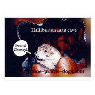 Halliburton man cave postcard