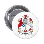 Halliday Family Crest Button