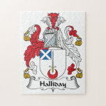 Halliday Family Crest Jigsaw Puzzles