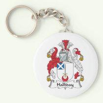 Halliday Family Crest Keychain