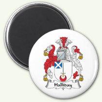 Halliday Family Crest Magnet