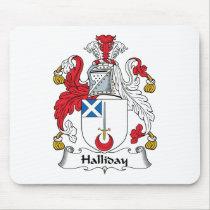 Halliday Family Crest Mousepad