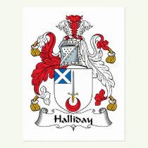 Halliday Family Crest Postcard