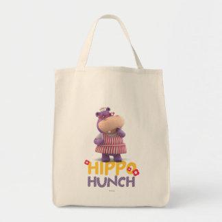Hallie - corazonada del hipopótamo bolsa tela para la compra