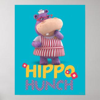 Hallie - corazonada del hipopótamo póster