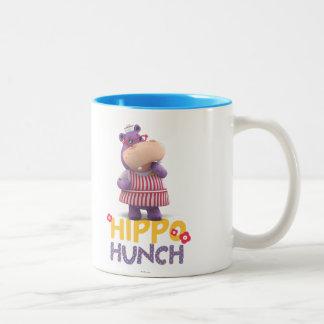 Hallie - corazonada del hipopótamo taza de café