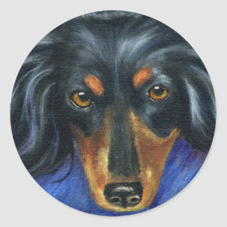 Hallie - Dachshund Dog Breed Art Classic Round Sticker