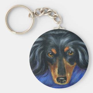 Hallie - Dachshund Dog Breed Art Key Chain