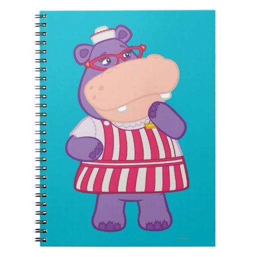 Hallie el hipopótamo feliz libros de apuntes con espiral