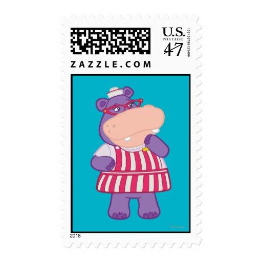 Hallie el hipopótamo feliz sellos postales