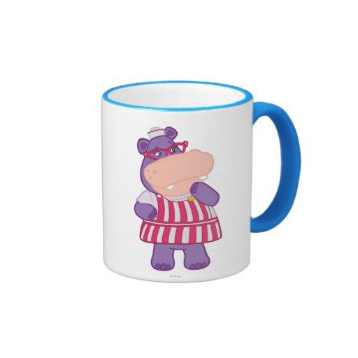 Hallie el hipopótamo feliz tazas