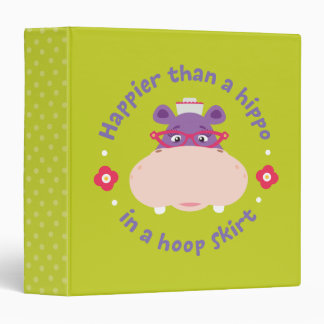 Hallie -Happier Than a Hippo in a Hoop Skirt 3 Ring Binder