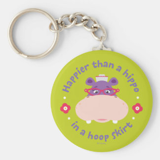 Hallie -Happier Than a Hippo in a Hoop Skirt Keychain