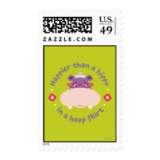 Hallie -Happier Than a Hippo in a Hoop Skirt Stamp