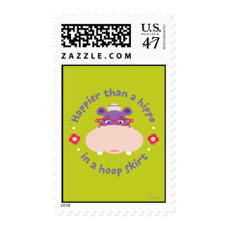 Hallie -Happier Than a Hippo in a Hoop Skirt Postage Stamp