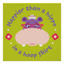 Hallie -Happier Than a Hippo in a Hoop Skirt Poster