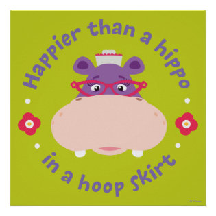 Hallie -Happier Than a Hippo in a Hoop Skirt Print