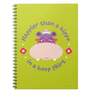 Hallie -Happier Than a Hippo in a Hoop Skirt Spiral Notebook