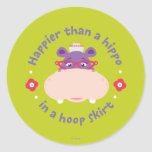 Hallie -Happier Than a Hippo in a Hoop Skirt Stickers