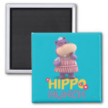 Hallie - Hippo Hunch 2 Inch Square Magnet