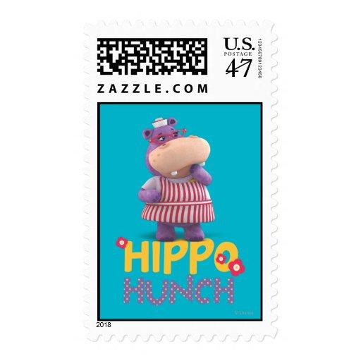 Hallie - Hippo Hunch Postage Stamp