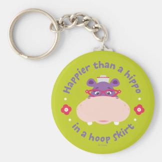 Hallie - más feliz que un hipopótamo en una falda  llavero redondo tipo pin