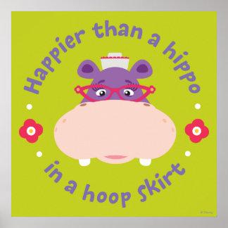 Hallie - más feliz que un hipopótamo en una falda  póster