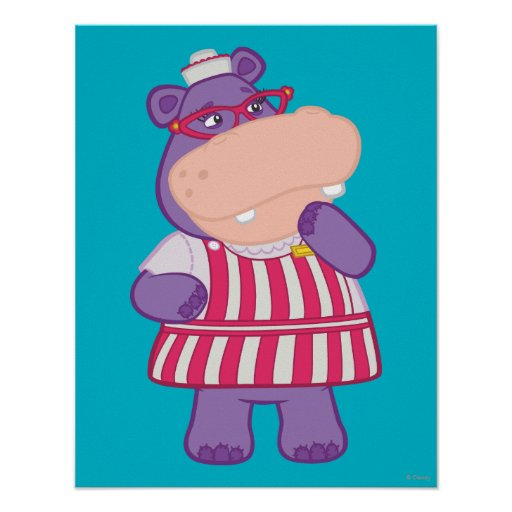 Hallie the Happy Hippo Posters