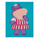 Hallie the Happy Hippo Posters