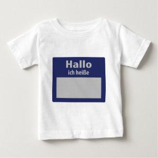 hallo, ich heisse symbol baby T-Shirt