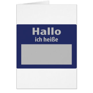 hallo, ich heisse symbol card