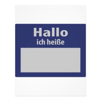 hallo, ich heisse symbol flyer