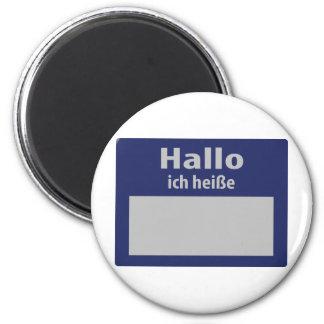 hallo, ich heisse symbol magnet