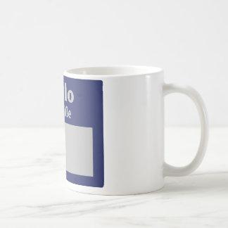hallo, ich heisse symbol coffee mug