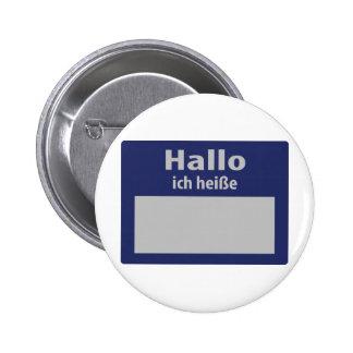 hallo, ich heisse symbol pinback button